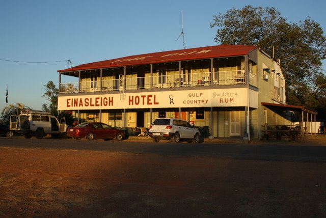 The Einasleigh Pub, in very early morning light