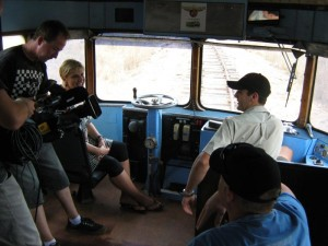 Susie's about to get and explanation of the Savannahlander's controls from Leigh.